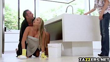Keiran Lee romps Samantha Saints pussy sideway