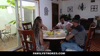 FamilyStrokes - Family Dinner Fuck Fest (Adriana Maya) (Misty Stone) 9 min