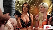 Bigtitted british voyeurs humiliate with joi