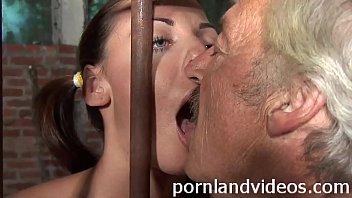 Kitty y. slut sucking old pervert cock