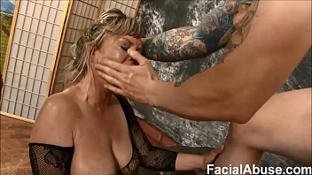 (new) Worthless blonde MILF Mallory Taylor gets destroyed at Face Fucking