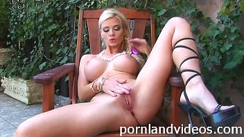 hot blonde slut Helena shows her pussy