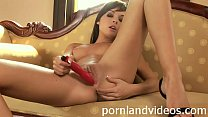hot anal masturbation with petite brunette teen Diana