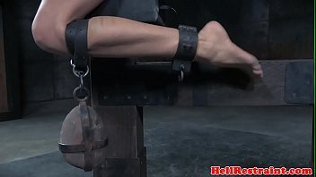 Tiedup scarred sub toyed and caned by maledom