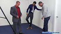 Suited office jock assfucked for teambuilding