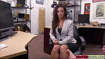 Curly hair babe Victoria  decides to sucks cock and gets fucked for laptop 5 min