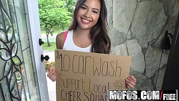 Mofos - Pervs On Patrol - Teen Spinners Wet T-Shirt Car Wash starring Zaya Cassidy