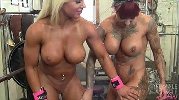Female Bodybuilder Lesbians Tattoos and Tits