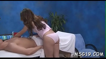 Babe gangbanged in a massage room