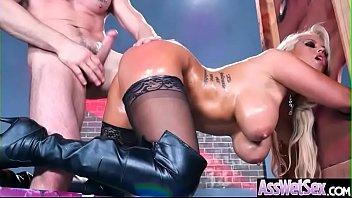 (Bridgette B) Big Butt Oiled Girl Love Deep Hard Anal Sex clip-11