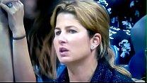 La sexy extenista Suiza: Miroslava Vavrinec sufriendo en la tribuna