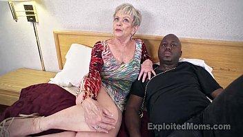 Mature Grandma with Big Tits lets a Black Cock cum Inside her Creampie Video