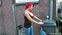 German Redhead Teen Lexy Seduce to Fuck Outdoor by Stranger