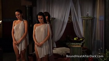 Lesbian Slave's r.: Standing And Waiting For Punishment