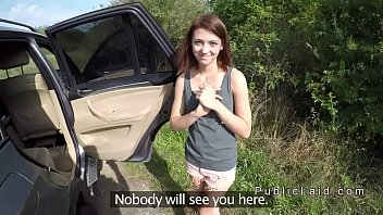 Petite teen hitchhiker bangs stranger in car (Stор Jerking Off! Join Now: H‌otDa​ting24.com)