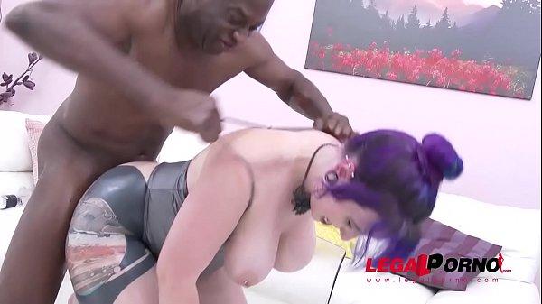 Big Butt Slut Proxy Page oiled up & DAP'ed by 3 Black Bulls 51 sec