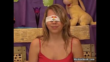 Blindfolded teen beauty Sue loves to play games li 19 min