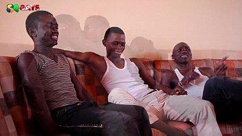 Black African Threesome Sucking Fun