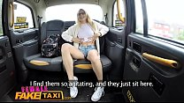 Female Fake Taxi Petite blonde student with hairy pussy cums hard