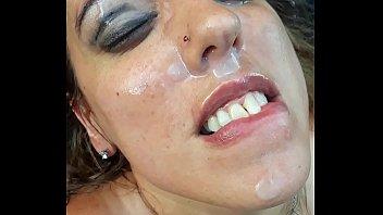 Wiping the Cum Facial