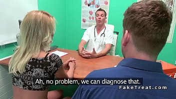 Blonde cheating bf with doctor (Stор Jerking Off! Join Now: H‌otDa​ting24.com)