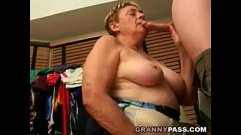 Chubby Granny Sucks Young Cock