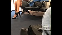 candid legs airport