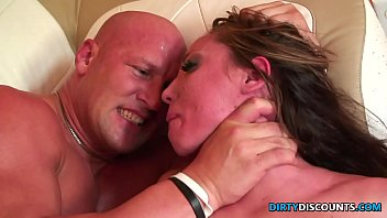 Roughfucked milf c. on enormous cock