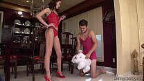 Hailey makes him her slave and cuckold. 24 min