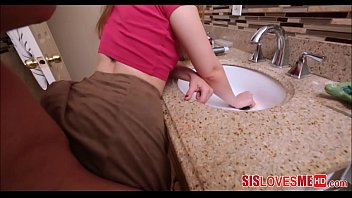 Hot Teen Stepsister Stuck In Sink And Fucked