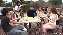 Summer Asian girls sucking on cocks in the sunny outdoors