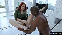 Bushy redhead Edyn Blair interracial sex