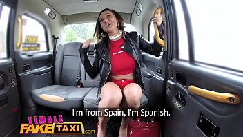 Female Fake Taxi Tattooed babes squirt and masturbate with sex toys