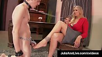 Mommy Dearest Julia Ann Punishes Her Boy Toy If He Gets Har
