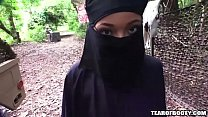 arab girl must wear hijab while getting fucked