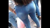 Culo grande en jeans