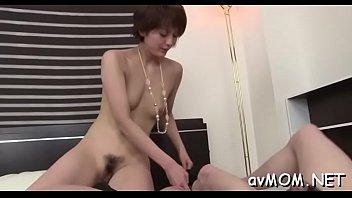 Hirsute pussy milf in act