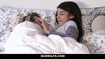 BadMILFS - (Sheena Ryder) Shares Stepsons Cock with Petite Teen (Sadie Pop)