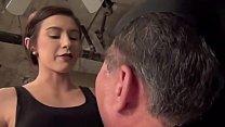 Mistress educates her slave