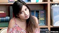 Hot Teen Jasmine Gomez caught stealing