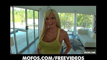 Beautiful big-tit blonde Rikki Six bounces her ass on hard cock