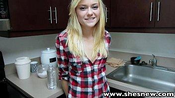 ShesNew Skinny blonde teen Chloe Foster POV homemade sex