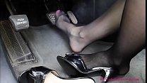 Pedal Pumping Sexy Nylon Feet Part 1- www.prettyfeetvideo.com
