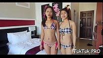 Thai babe gets scored and gangbanged