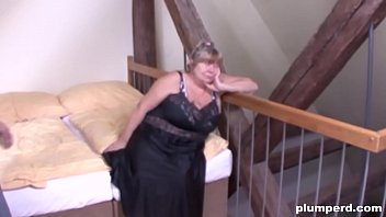 Horny old cunt is so happy to be fucked by a big young cock 6 min