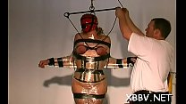 Bulky female tied up and to endure sadomasochism xxx