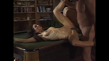 Rebecca Lord fucked in the ass at the stairs and at the pool table