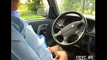 Smoking hot curvy teen gives grandpa a hot orall-service stimulation and rides