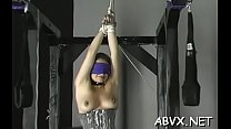 Woman endures heavy stimulation in wild dilettante fetish clip