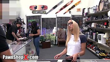 PawnShopX - Uma Jolie Wants Her Ring Back From Pawn Shop. Watch What She Is Willing To Do For It!